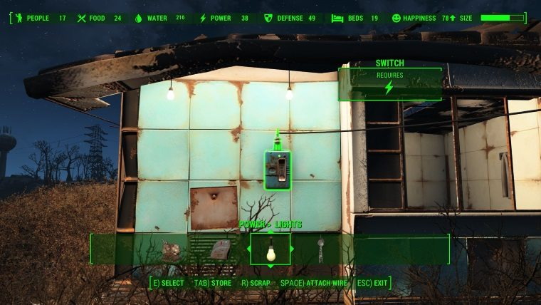 Fallout 4 Worshop Guide Lights