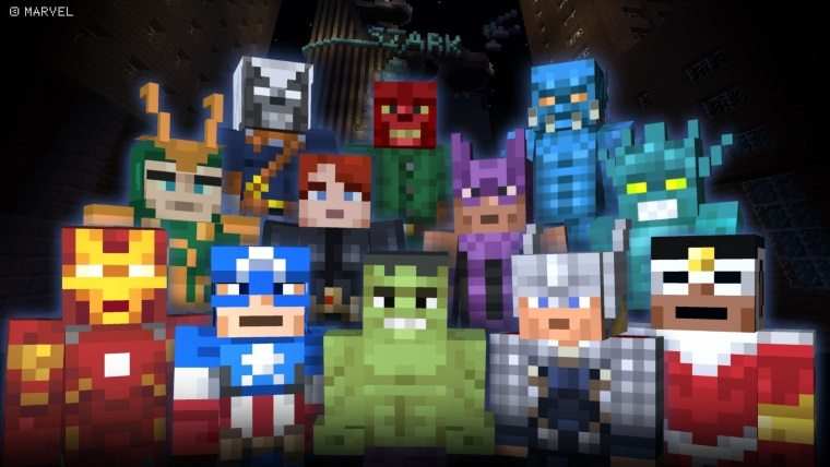 Minecraft-Marvel-Skin-Pack