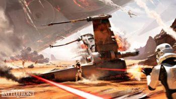 This is Star Wars: Battlefront Battle of Jakku DLC