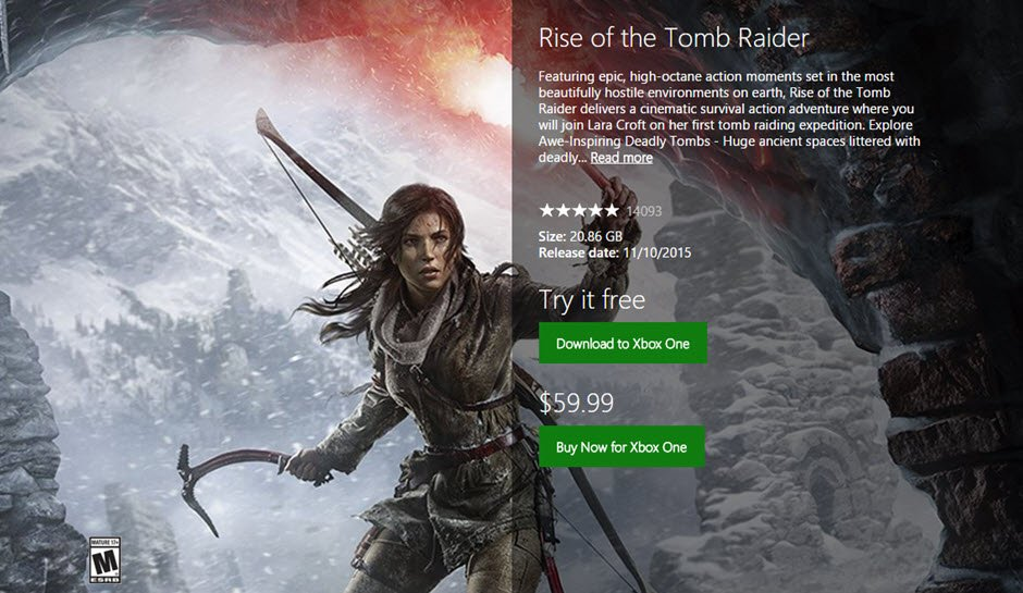 rise of the tomb raider xbox one download