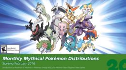 Pokemon Monthly Distributions For 20th Anniversary Revealed