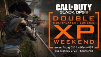 Black Ops 3 Double XP Weekend Returns, Free Multiplayer Weekend For PC
