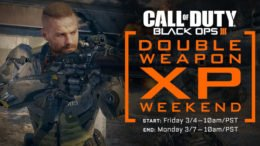 Call of Duty: Black Ops 3 Double Weapon XP Weekend