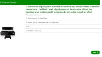 Microsoft Survey Suggests Trading Xbox One Digital Games For Store Credit Could Happen