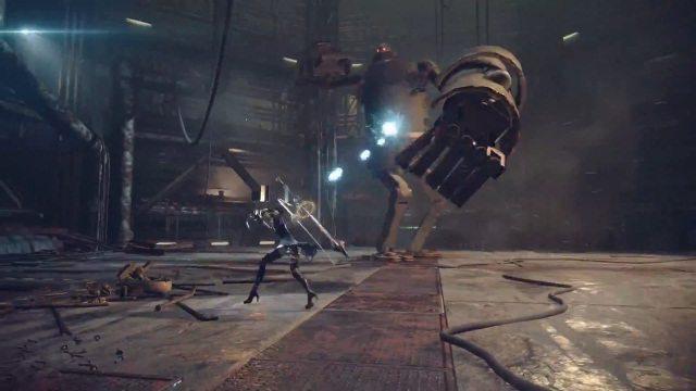 Nier;_Automata_PlayStation_4_gameplay_screenshot