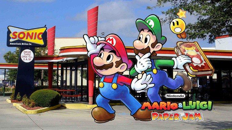 Mario & Luigi: Paper Jam and Sonic Drive-In