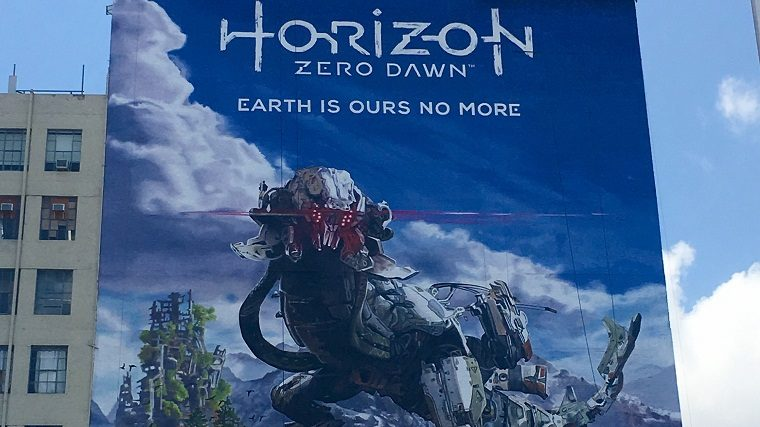 E3 2016 Advertising Starts With Big Horizon Zero Dawn Poster Attack Of The Fanboy