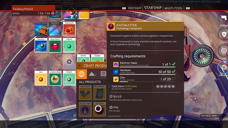 How To Craft Antimatter In No Man S Sky