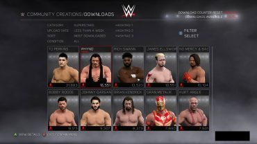 WWE 2K17 Download Limit Increasing For CAW Items
