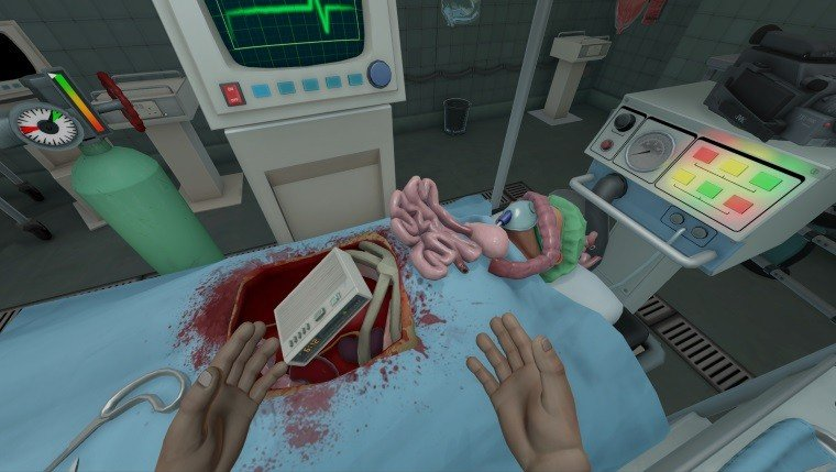 Surgeon Simulator: ER is a Good Game that Runs Terribly Articles  Surgeon Simulator ER Surgeon Simulator HTC Vive