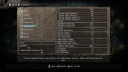Nioh Leveling Up Stats