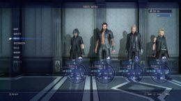 Final Fantasy 15 menu