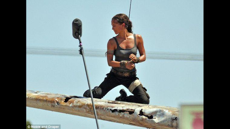 First Images Of Alicia Vikander S Lara Croft From Tomb Raider