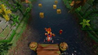 Crash Bandicoot N. Sane Trilogy Gameplay Shows Classic Hang Eight Level