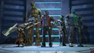 Telltale's Guardians of the Galaxy is not set in the Movie or Comic Universe