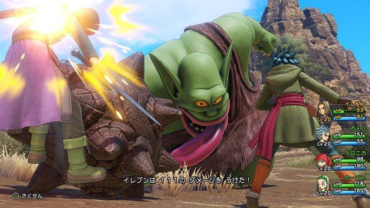 Dragon Quest XI battle