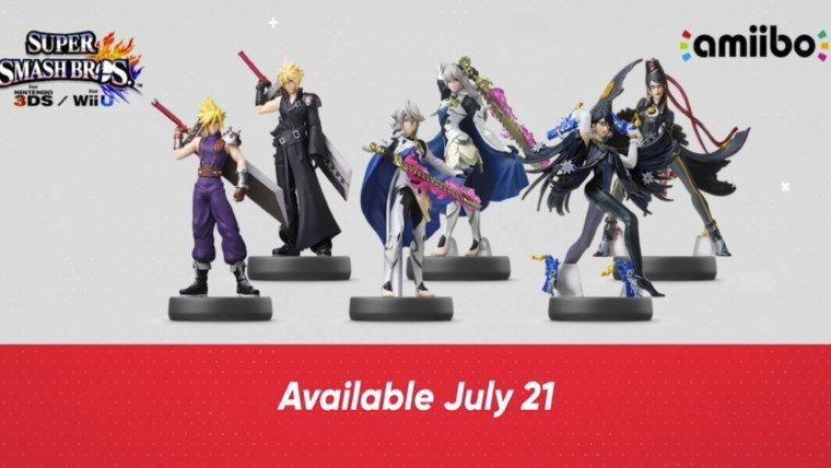 Corrin, Cloud, and Bayonetta Amiibo Revealed with Two Versions Each News  Super Smash Bros. Amiibo