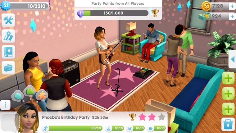 The Sims Mobile party