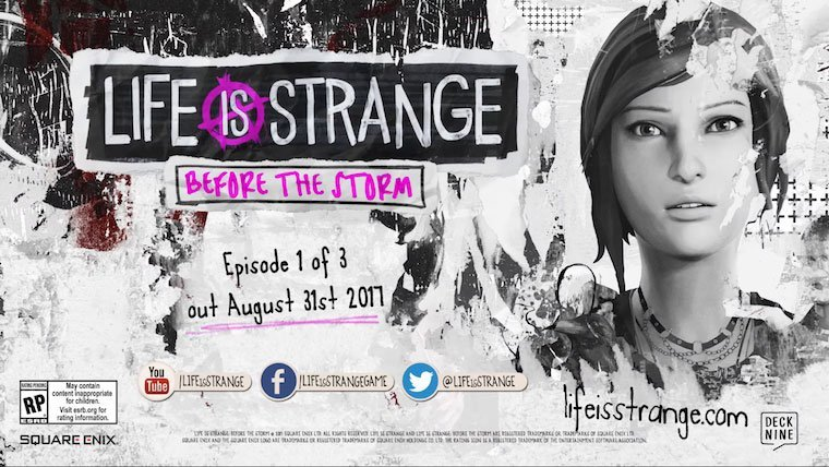 E3 2017: Life is Strange: Before the Storm Announced