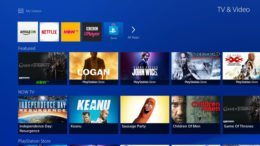 PS4 TV Video app