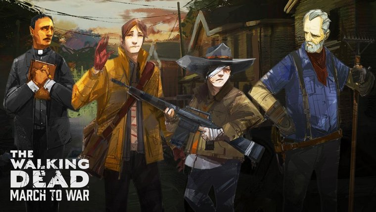 First Look at Mobile Game The Walking Dead: March to War Mobile News  The Walking Dead: March to War Mobile Games Disruptor Beam