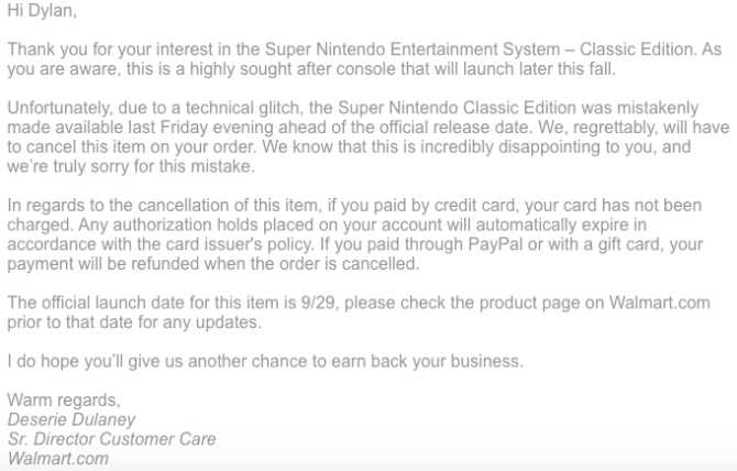 Walmart is Cancelling All SNES Classic Pre-Orders News  SNES Classic Edition SNES Classic Nintendo