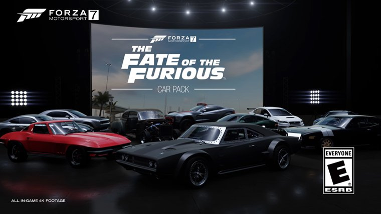 forza motorsport 7 receiving a fate of the furious dlc. Black Bedroom Furniture Sets. Home Design Ideas
