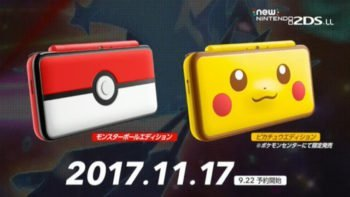 New Pokemon-Themed Nintendo 2DS XL Coming This Fall