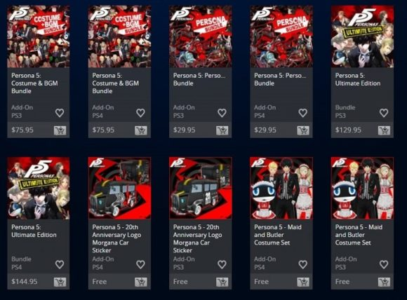 Persona 5: Ultimate Edition Spotted On PSN News  Persona 5: Ultimate Edition Persona 5 Persona Deep Silver Atlus