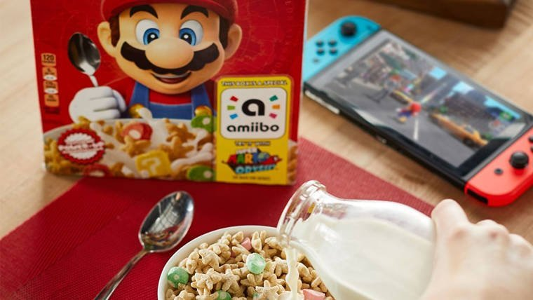 Nintendo to start offering in-game power-ups via cereal boxes