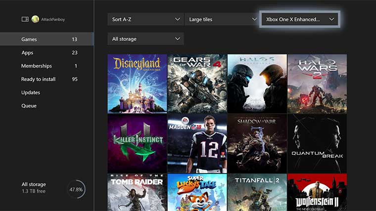 How to Check Which Games Have Xbox One X Enhancement Updates GameGuides  Xbox One X