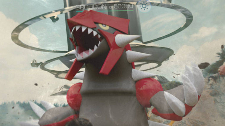 Pokémon Go's new legendary Raid Battle features Groudon