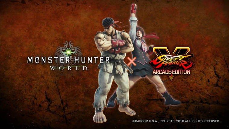 Monster Hunter World Street Fighter V
