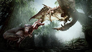 Monster Hunter World Monsters Fighting