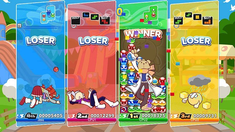 Puyo Puyo Tetris Busting Blocks on PC This Month