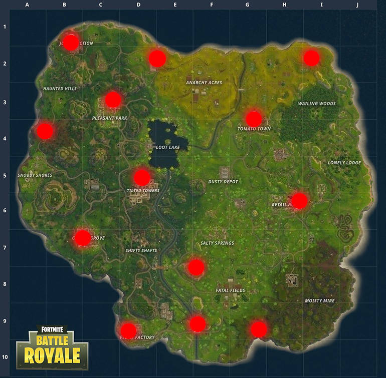 fortnite br ice cream truck locations