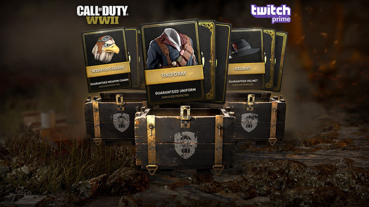 Call of Duty WW2 Free Supply Drops For Twitch Prime Subscribers