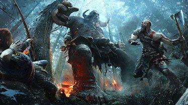 God of War Kratos & Atreus Fighting Troll