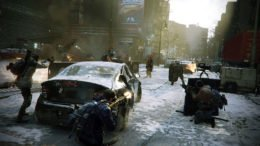 The Division gun battle in the streets