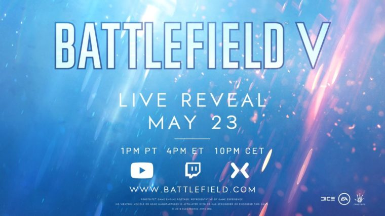 EA Confirms Battlefield V Live Reveal for May 23, Provides Streaming Outlets