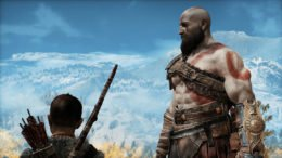 God of War Kratos and Atreus Mountain