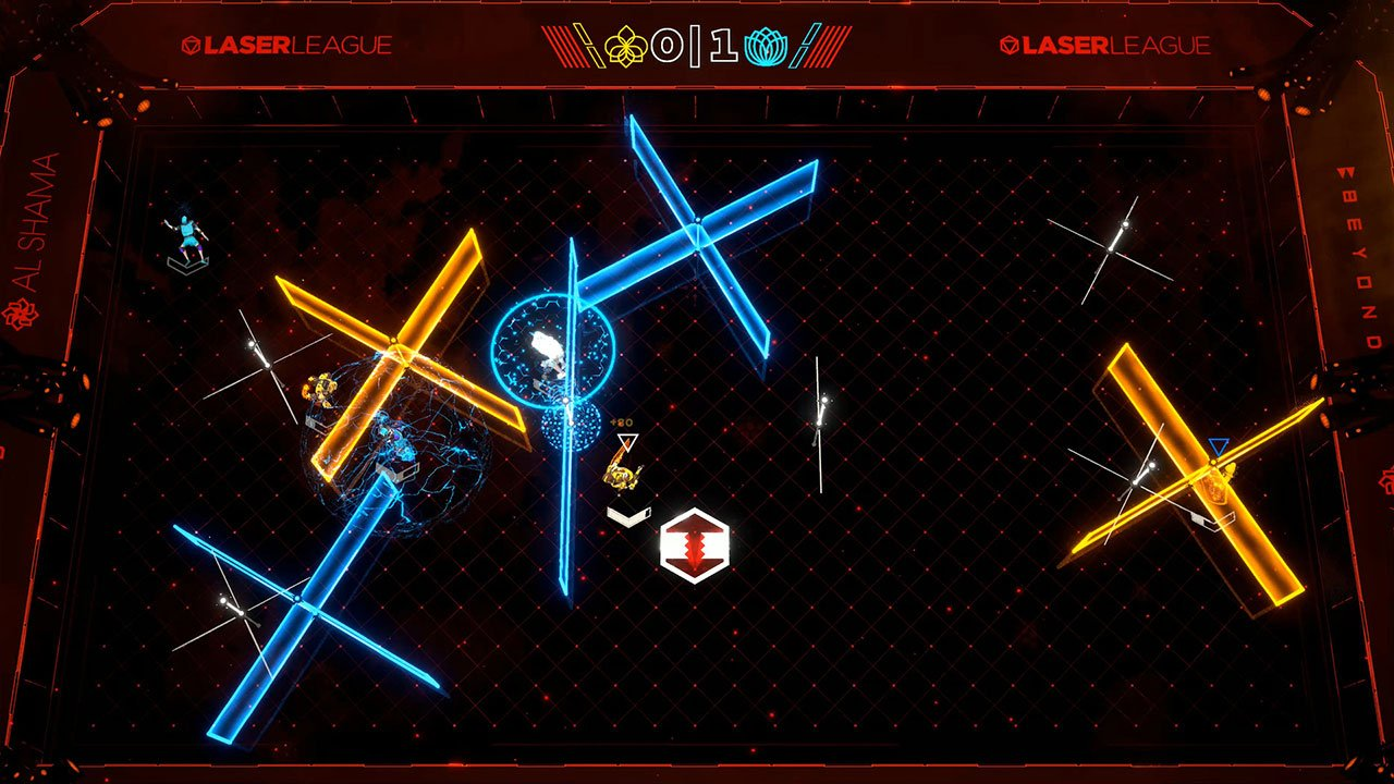 laser league top down gameplay