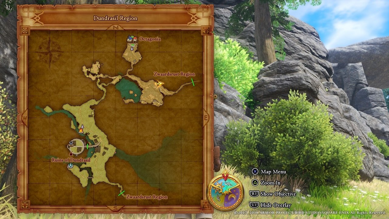 Dragon Quest XI Guide: Dundrasil Region Target Locations