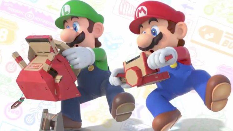 Luigi and Mario using Labo