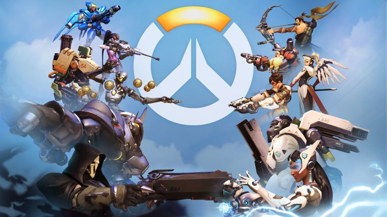 Overwatch characters facing off