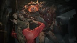 Mutant attacking Claire Redfield