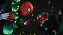Spider-Man facing Scorpion