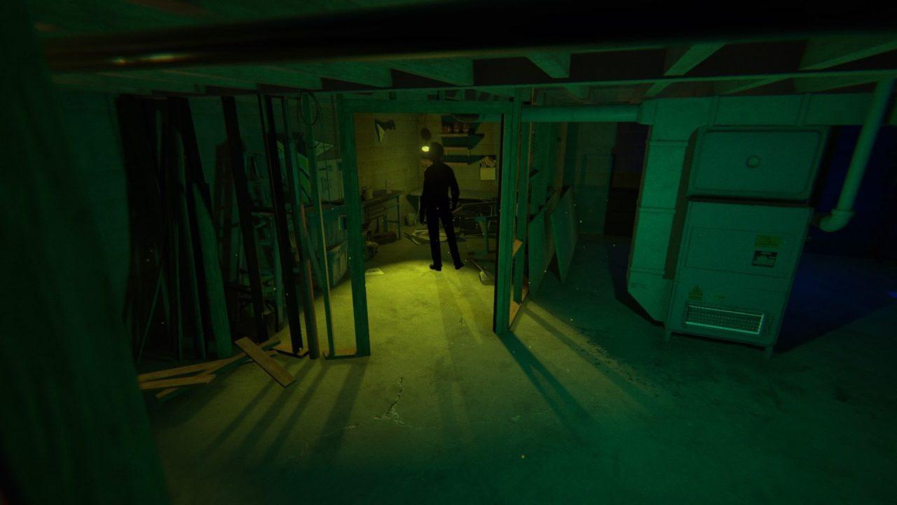 Man standing in a basement