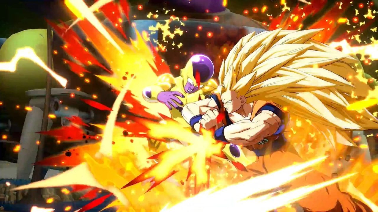two DBZ characters fighting