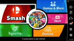 Smash Bros Ultimate main menu